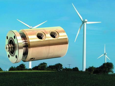 美国deublin杜博林应用于风能 风电 风力发电机领域的高压液压旋转接头、液压滑环以及导电滑环介绍及应用案例